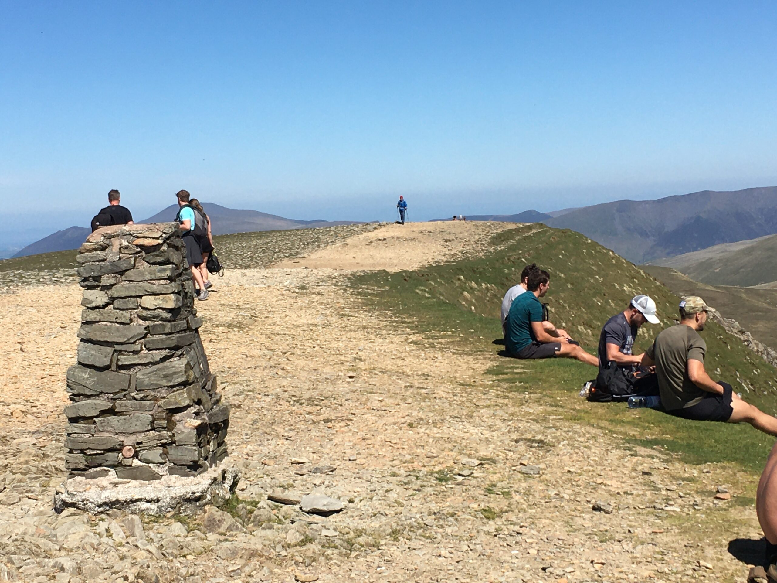Helvellyn summit trig with Adventure Trails